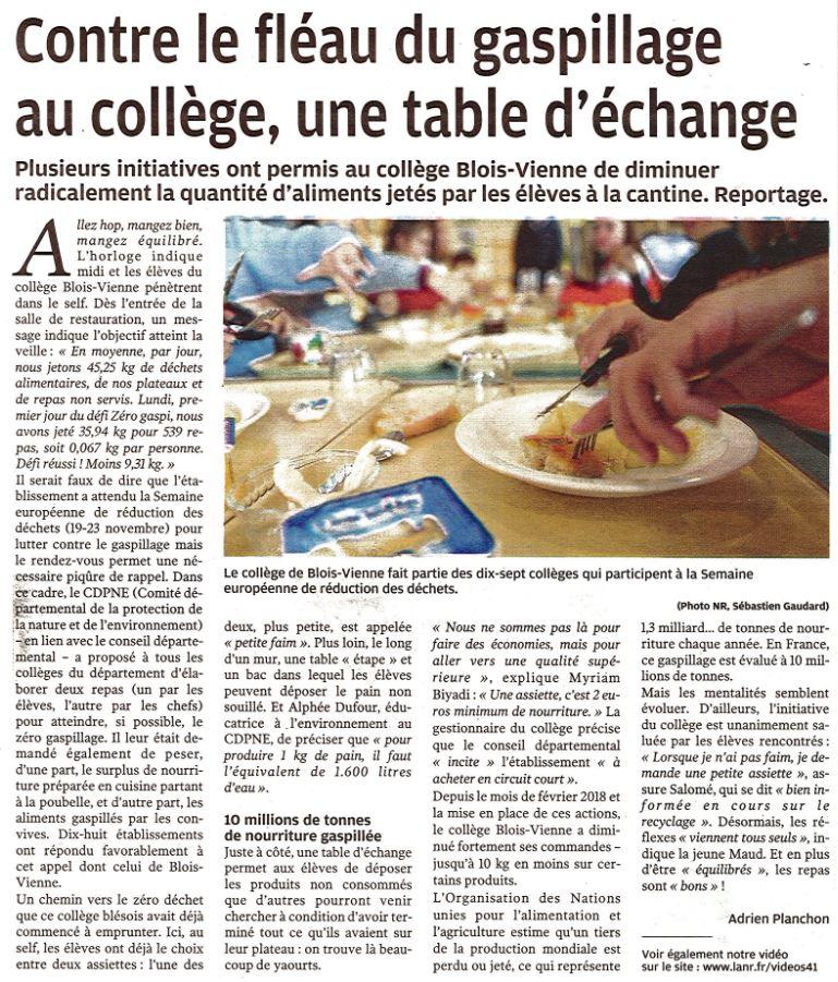 Article-nouvelle-république-41-2018-10-pédibus-Mer
