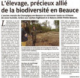 L'élevage, précieux allié de la biodiversité en Beauce