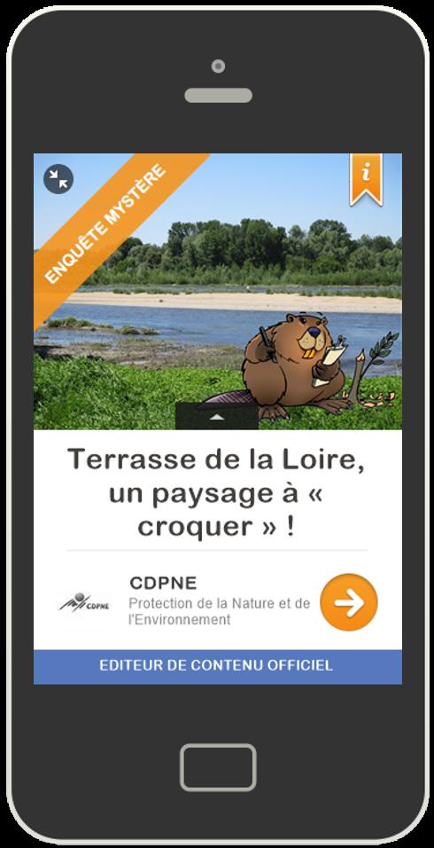 parcours Guidigo terrasse de la Loire